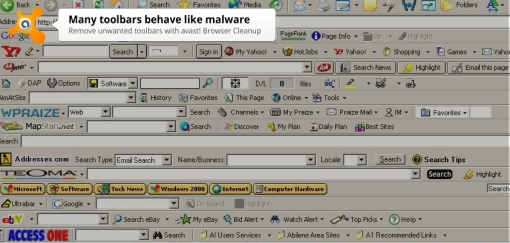 If your browser looks like this, you probably have malware.