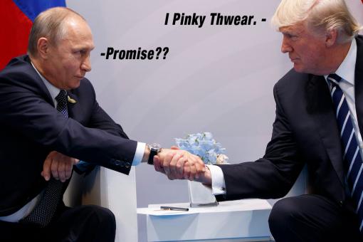 Pinky swear putin trump impeachment scandal