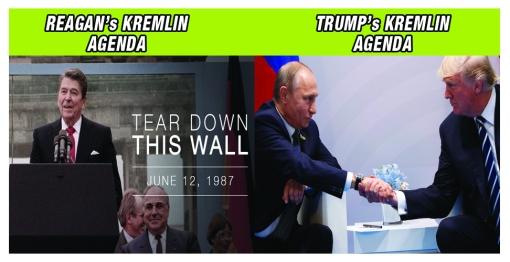 Reagans Agenda VS Trumps Agenda in KREMLIN